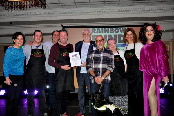 Broadcaster Andrew Kay presents Lunch Positive with grant of £8.082